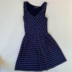 TART small soft blue & white striped dress